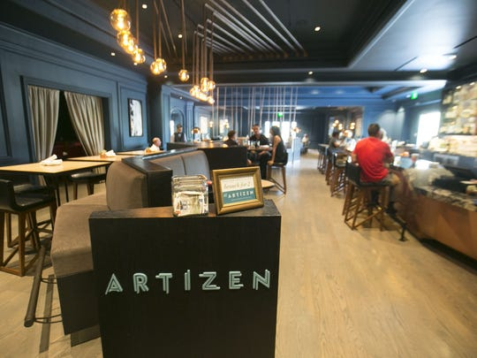 Artizen at The Camby restaurant's presentation is as cool as the decor. Artizen is not a quiet restaurant, even when half full, but it captures a certain relaxed buzz.
