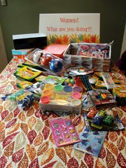 Some of the gifts and shoeboxes that have already been