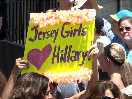 A supporter of Democratic Presidential candidate Hillary