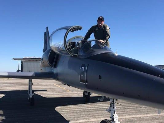 Dr. Jay Baxley and aircraft