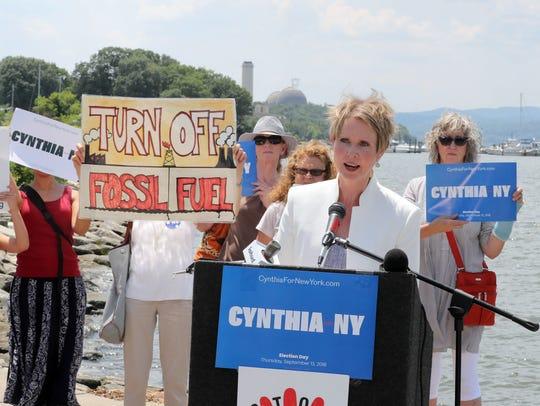 Gubernatorial candidate Cynthia Nixon speaks about