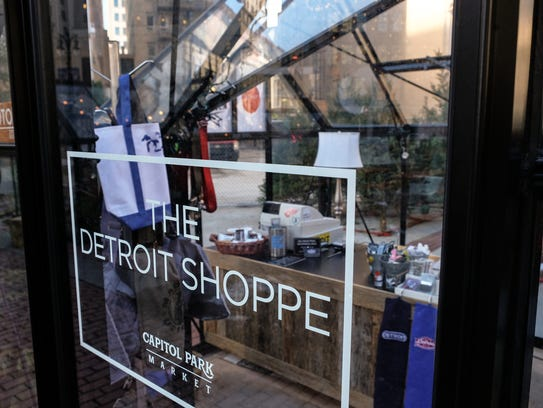 The Detroit Shoppe booth in Downtown Detroit Markets.