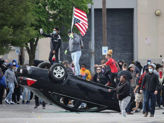 Riots and protests in Rochester, NY. ROCHESTER DEMOCRAT AND CHRONICLE PHOTO