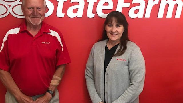 Dan Lahmers and Kendra Long are familiar faces at the State Farm office in Newcomerstown.