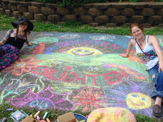 Winning piece from the 2015 Chalk Art Competition