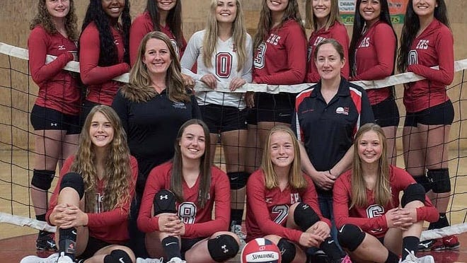 The 2019 Etna High volleyball team poses for a photo. At this time, Northern Section fall sports teams still plan to play, despite the CIF announcing Monday most California schools would not play fall and winter sports until next year.