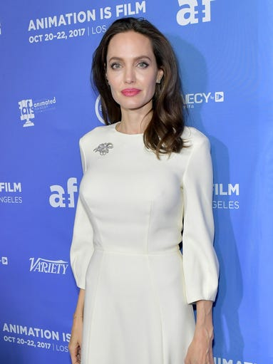 Angelina Jolie, a 42-year-old actress, filmmaker and