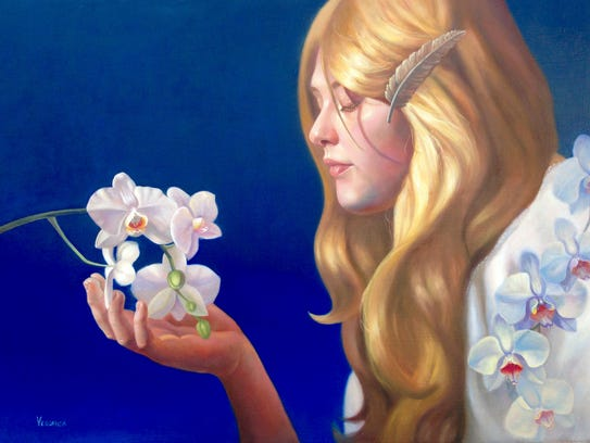 """An oil painting by Veronica Winters called """"As Love"""