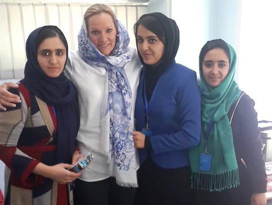 Maryam Sahak, left, operations manager for the TTi