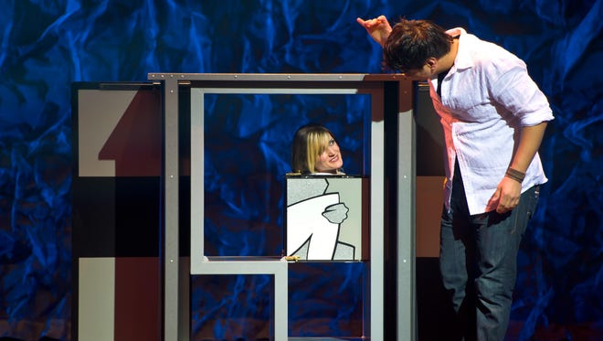Jason Bishop's show features both close-up and large-scale magic tricks.