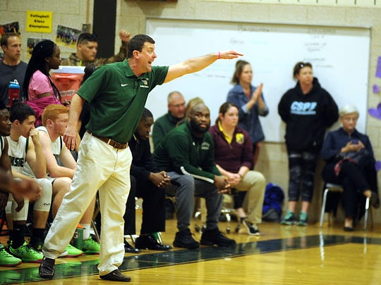 Parkside head coach David Byer calls out to his team