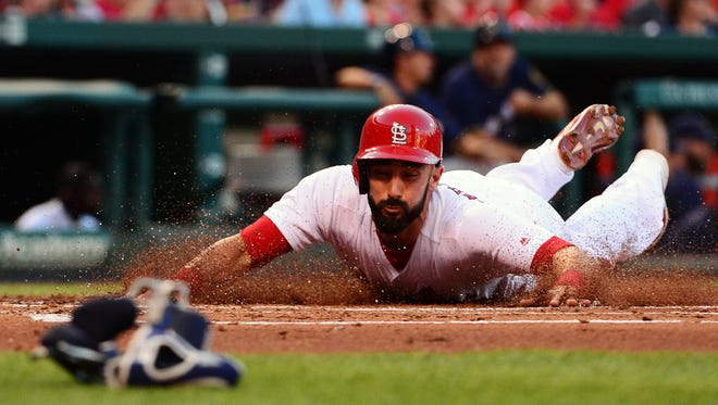 Matt Carpenter will be with Springfield through Wednesday as he rehabs an injury to his oblique.