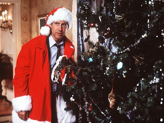 "Chevy Chase stars in the 1989 film ""National Lampoon's Christmas Vacation."""