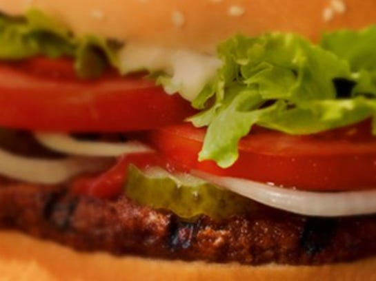 Burger King Whopper close up