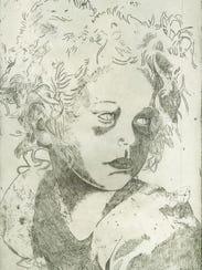 """Young Dancer,"" etching by Dr. Dionne Landgraf"