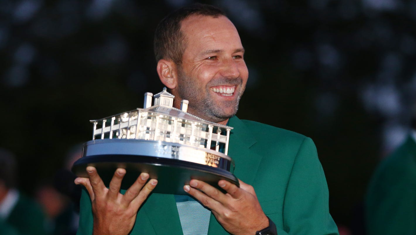 Sergio Garcia talks Masters with reporters while his wife is in labor