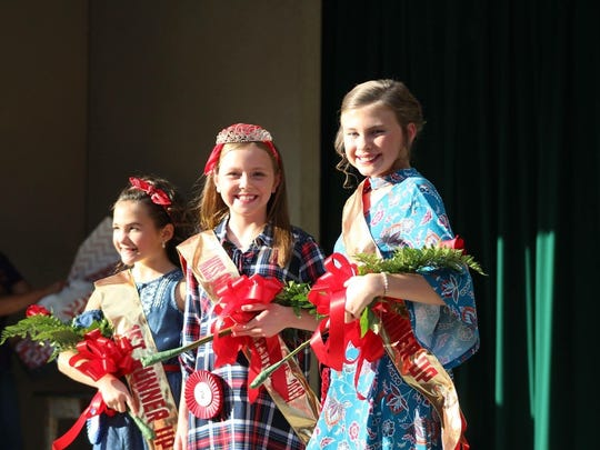 Pictured from left to right are, first runner-up Addyson