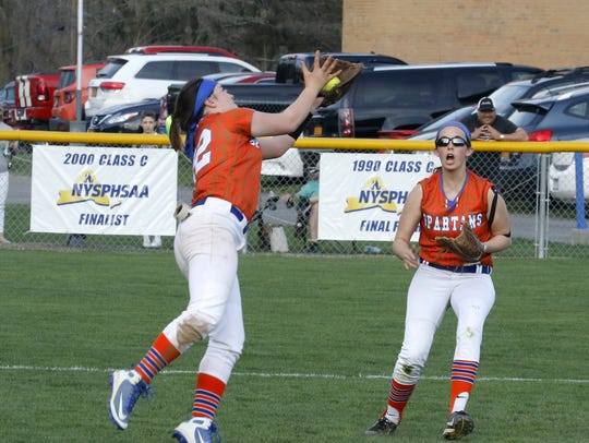 Reagan Seelye makes the catch for the final out Wednesday