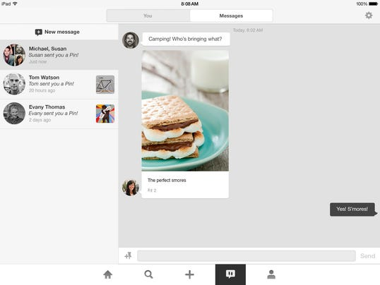 "Pinterest new messaging product ""Conversations"""