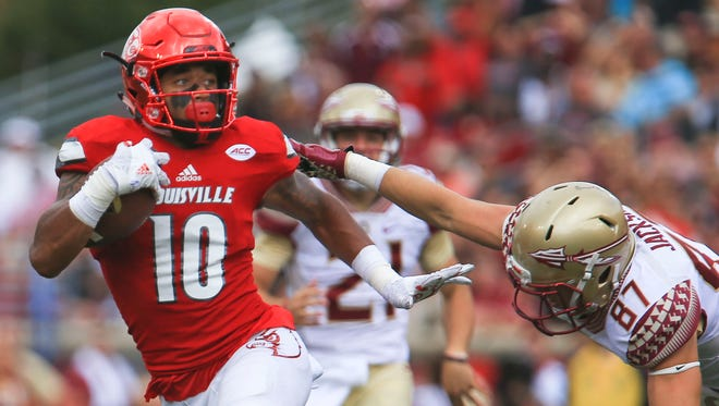 Louisville's Jaire Alexander had a punt return touchdown as well as a fumble recovery during Louisville's rout of the Florida State 63-20 Sept. 17.