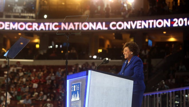 Rep. Nita Lowey, D-Harrison, spoke during the opening session of the Democratic National Convention at the Wells Fargo Arena in Philadelphia July 25, 2016.