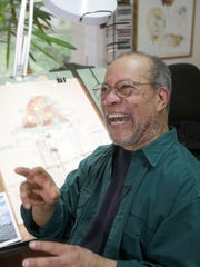 Jerry Pinkney, children's book illustrator, at his