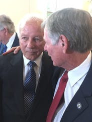 Former Gov. Edwin Edwards and state Sen. Francis Thompson,