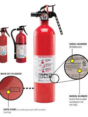 A guide to determine if a Kidde fire extinguisher is affected by the recall.