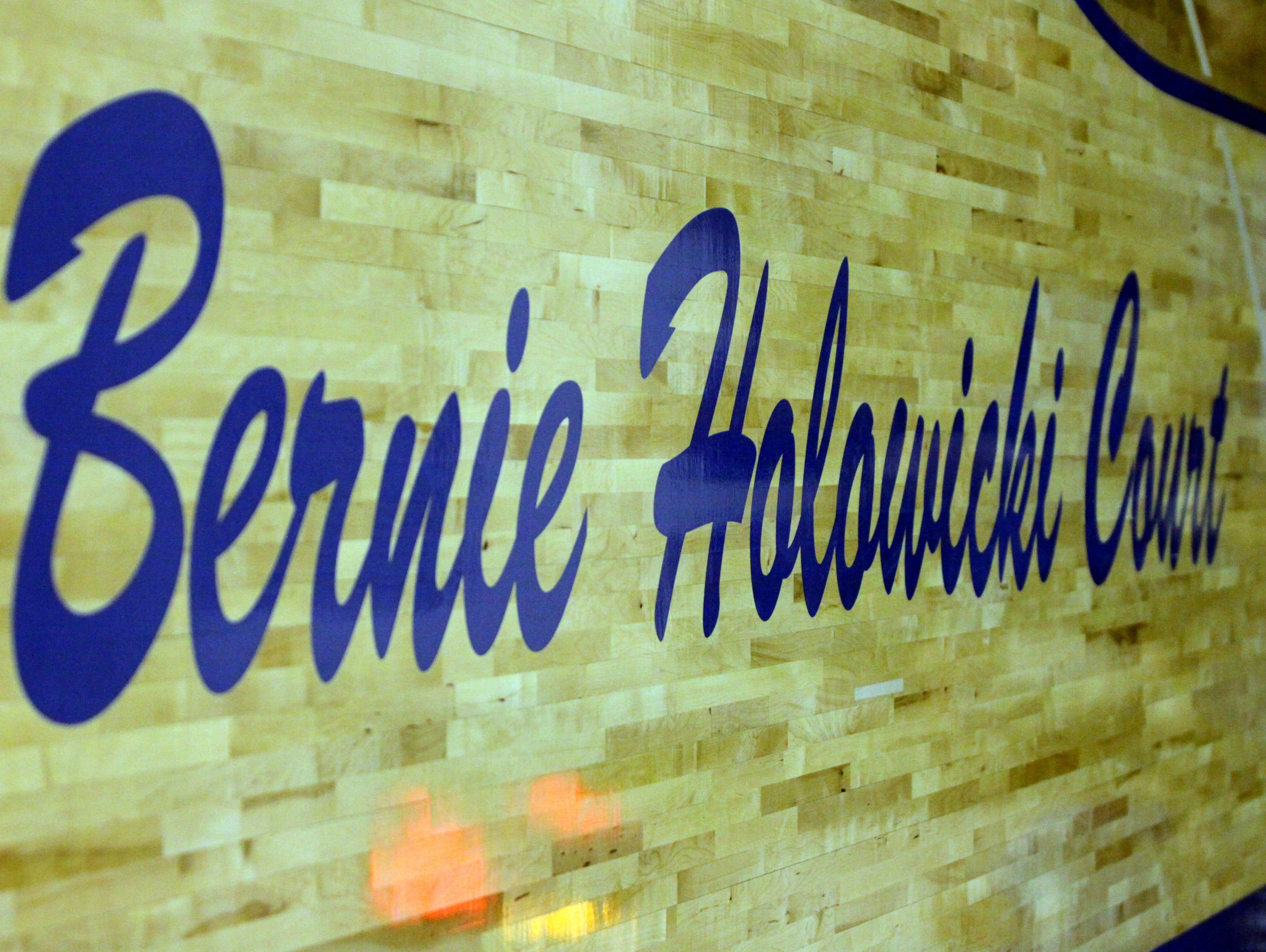 Catholic Central now cal call it Bernie Holowicki Court.