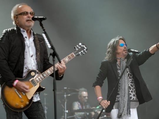 Foreigner guitarist Mick Jones, left, and singer Kelly Hansen.