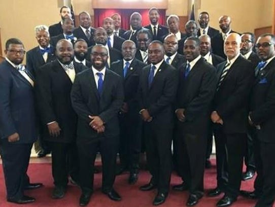 Members of Phi Beta Sigma, Nu Alpha Sigma alumni chapter
