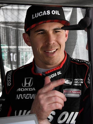 Schmidt Peterson Motorsports IndyCar driver Robert Wickens (6) during practice for the Indianapolis 500 at the Indianapolis Motor Speedway on Wednesday, May 16, 2018.