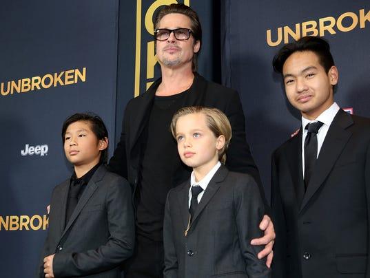 Pax Jolie-Pitt, Brad Pitt, Shiloh Jolie-Pitt, Maddox Jolie-Pitt