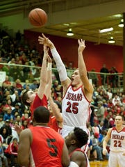 Twin Lakes' Blake Bennington takes a contested shot