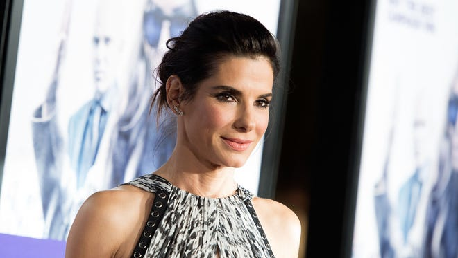 "Actress Sandra Bullock attends Premiere of ""Our Brand is Crisis"" in Hollywood, California, on October 26, 2015"