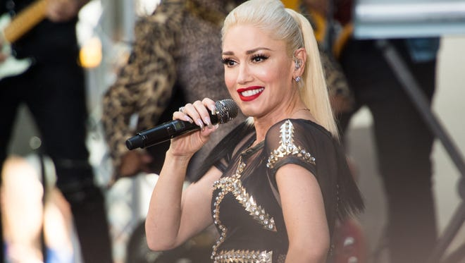 "Singer Gwen Stefani performs on NBC's ""Today"" at Rockefeller Plaza in New York City."