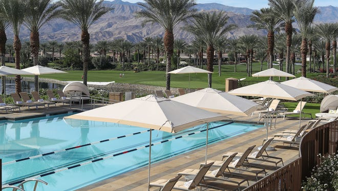 A swimming pool at Toscana country club in La Quinta.