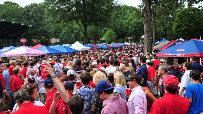Ole Miss' Grove is filled with fans of the Rebels each gameday.