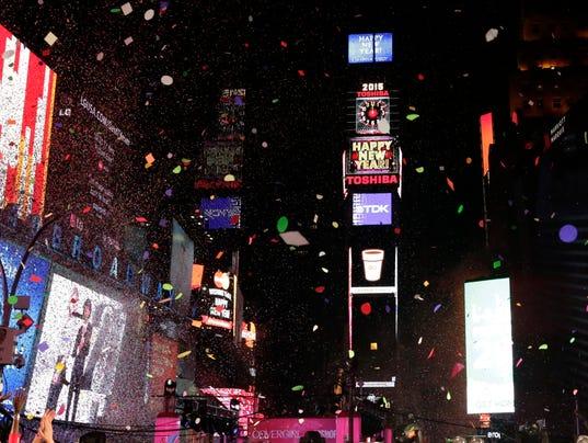 EPA USA NEW YEAR 2015 CELEBRATIONS LIF PUBLIC HOLIDAYS USA NY
