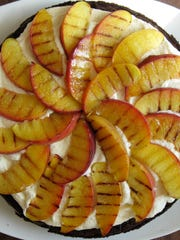 Grilling peaches helps intensify their sweetness.