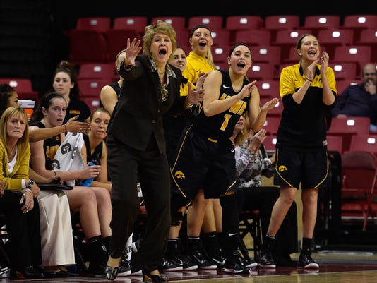 NCAA Womens Basketball: Iowa at Maryland