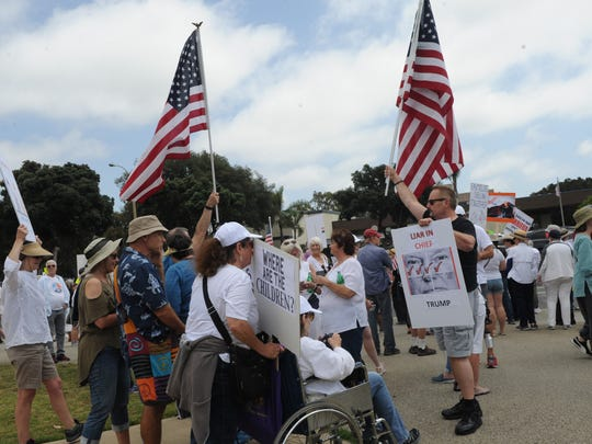 Rallies will be held today in Simi Valley and Ventura protesting the declaration of a national emergency.