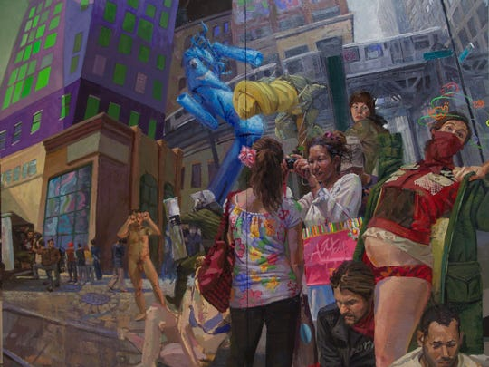 """Artist Benjamin Duke's """"Occupy My Heart,"""" oil on canvas, is part of his solo exhibit """"It wasn't a Dream, It was a Real Place."""""""