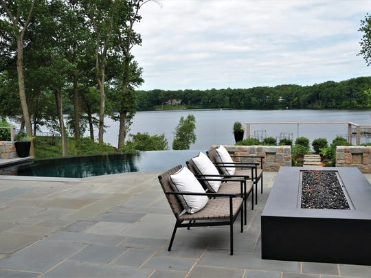 Franklin Lakes backyard designed by Tranquility Pools,