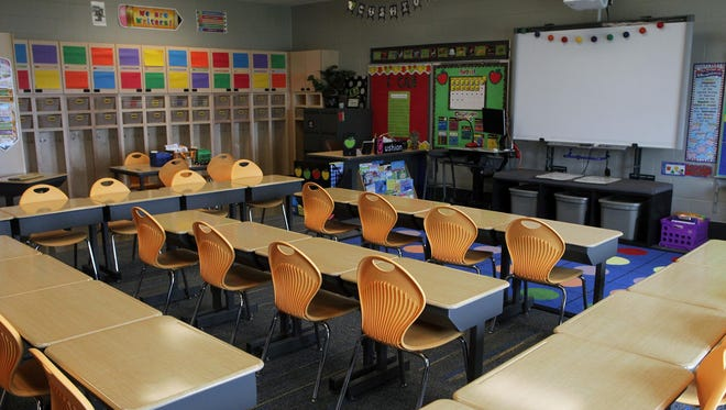 A typical classroom at Alexander Elementary. The Press-Citizen took a tour of the new school on Monday, Aug. 17, 2015.