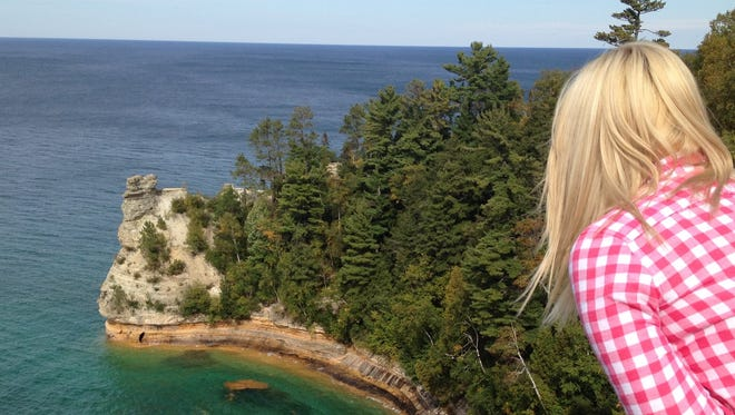 Upper Peninsula charms: Miner's Castle is one of Pictured Rocks National Lakeshore's most elegant sights, with its striations, set against the clear waters of Lake Superior.
