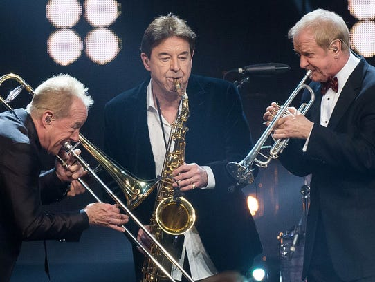 Chicago's famous horn section (from left): James Pankow,