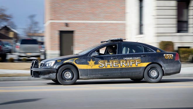Chemung County Sheriff vehicle.