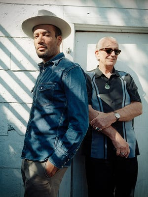 Ben Harper (left) and Charlie Musselwhite. Credit: Danny Clinch.