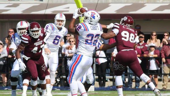 Louisiana Tech running back Jarred Craft caught 5 passes